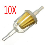 10 X Car Parts Small Inner Fuel Filters Auto Petrol 6mm 8mm Pipe