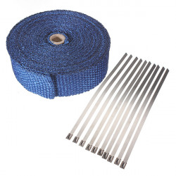 10m Heat Wrap Insulate Fiber Tape Exhaust Manifold Heat Protection