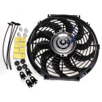 12 Inches 12V Slim Reversible Electric Radiator Cooling Fan Push Pull Auto Parts