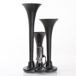 12V 150DB Motorcykel Compact Air Signalhorn Kit Triple Trumpet Ultra Loud
