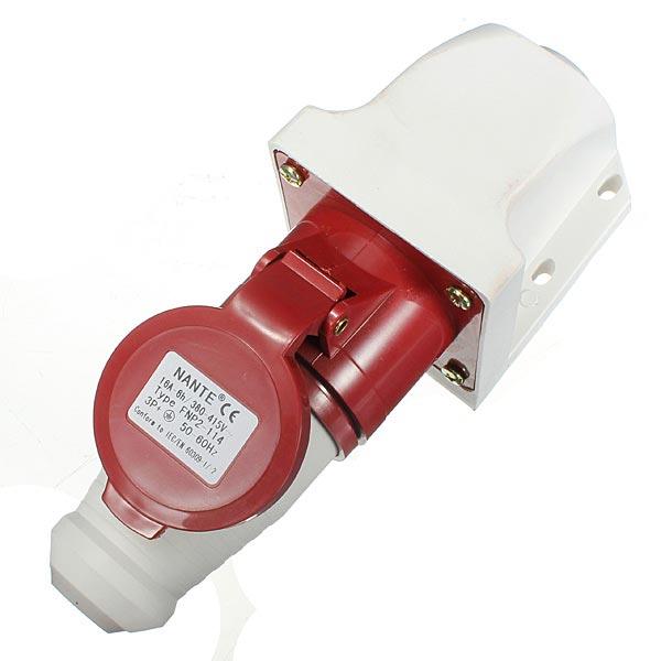 16Amp 4Pin Plug Wall Mount Socket Waterproof IP44 Auto Parts