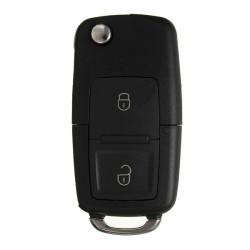 2 Knap Fjernbetjening Klapnøgler Case Bil Shell med Skruetrækker for VW