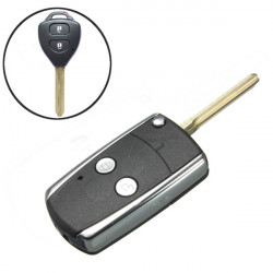 2 Button Folding Flip Remote Key Case shell Fob For Toyota 96-05