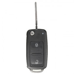 2 Button Remote Key FOB Shell Case + Uncut Blade For VW T5 Polo Golf