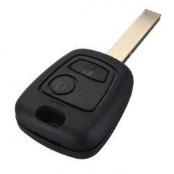 2 Knapp Fjärrnyckel för Peugeot 307 med Transponder Chip ID46