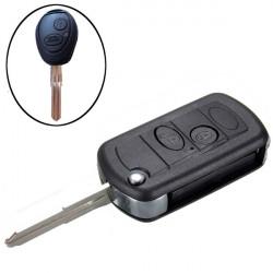 2 Knappar Flip Nyckelskal Nyckel Blank för Land Rover Discovery 2
