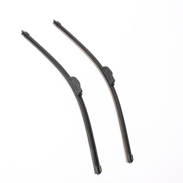 2PCS Universal Car 22Inch Windshield Wiper Blades With J-Hook Black Auto Parts