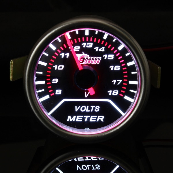 2 Zoll 52mm Universalselbst Rote LED Spannung Auto Volt Querschnitt 8 18V Meter Auto Teile