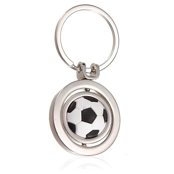 3D Sports Roterende Fodbold Nøglering Keychain Bildele