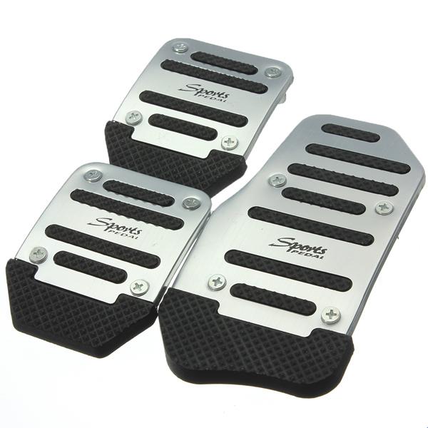 3stk Skridsikkert Bil Accelerator Bremse Foot Pedal Cover Pad Fodstøtter Bildele