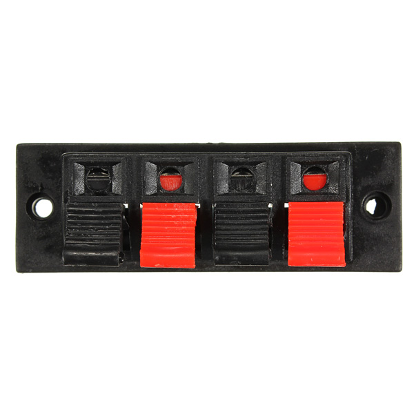 4 - Way AMP Stereo Speaker Terminal Strip Push Release Connector Block Auto Parts