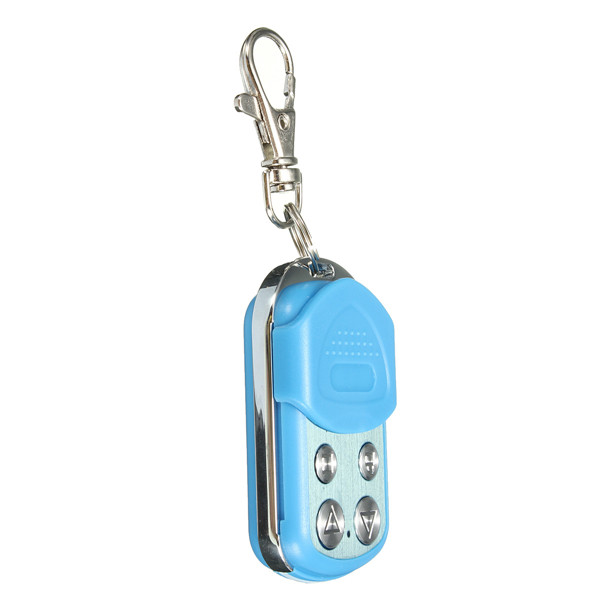 4 Button Electric Garage Gate Door Remote Control Key Fob 433MHz Cloning Blue Auto Parts