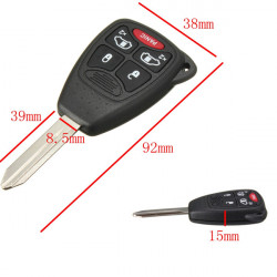 4 Button Remote Key Keyless Entry Clicker Combo Transmitter Uncut FOB