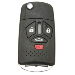 4 Buttons Remote Folding Key Flip Shell Case For Mitsubishi Galant