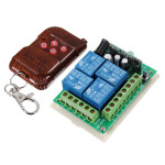 4 CH Receiver Transmitter Wireless Remote Control Switch 12V 315MHz Auto Parts