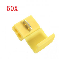 50x Yellow Scotch Lock Quick Splice 22-18AWG Wire Connector
