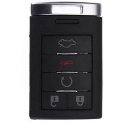 5 Knapp Smart Fjärrnyckel Shell Fob Fodral Blad för Cadillac 05-14