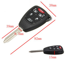 6 Button Remote Head Key Keyless Entry Clicker Combo Transmitter