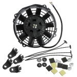 7inch Slim Reversible Electric Radiator Cooling Fan Push Pull 12V 80W Auto Parts