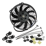 9inch Slim Reversible Electric Radiator Cooling Fan Push Pull 12V 80W Auto Parts