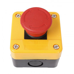 AC 10A Emergency Stop Push Red Sign Button Switch Control Waterproof