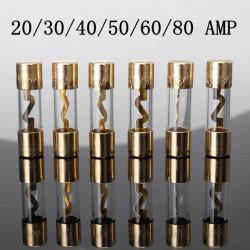 AGU Guld Glass Sikring 20A 30A 40A 50A 60A 80AMP Current Sound System