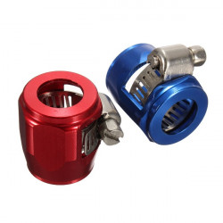 AN8 18mm Car Hose End Finish Fuel Oil Water Pipe Clamp Clip