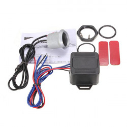 Auto 12V LED One Push Starta Motorn Button Tändning Starter Switch