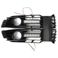 Auto Forside Bumper Tågelygte Grille med LED DRL for 01-05 VW Passat