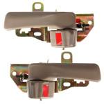 Beige Front Rear Inside Interior Door Handle for 92-96 Toyota Camry Auto Parts