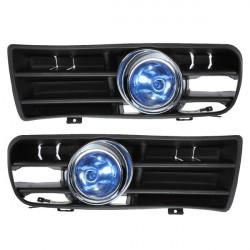 Blue Front Fog LED Light Lamp Lower Grille for 98-04 VW Golf MK4