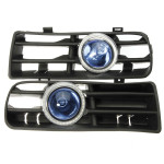 Blue LED Fog Lights Front Bumper Grille For VW 98-04 Angel Eyes Lamp Auto Parts