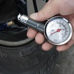 Bil Dial Dæk Måler Meter Precision Pressure Dæk Mål Metal