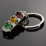 Car Traffic Lights Key Ring Chain Classic 3D Solid Keychains Auto Parts
