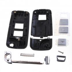 Folding Fjernbetjening Klapnøgler Case Shell til Hyundai Tucson Ix35 05-13