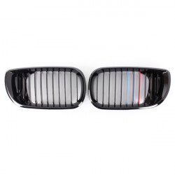 Front Gloss Black M-color Kidney Grille Grill For BMW 3Series 02-05