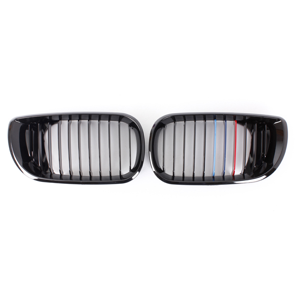 Forside Gloss Sort M-farve Nyre Grille Grill for BMW 3Series 02-05 Bildele