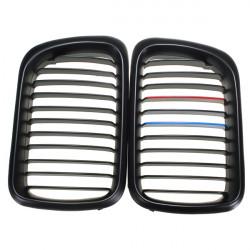 Matte Black+M Color Front Grilles For BMW 97-99 323i 323is M3 328i