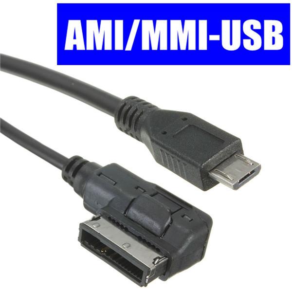 Micro USB Man AUX Ljudkabel Adapter Musik Interface för Audi Ami VW Bildelar