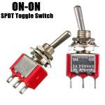 Rot 3 Pin ON ON SPDT Mini Kippschalter AC 6A / 125V 3A / 250V Auto Teile