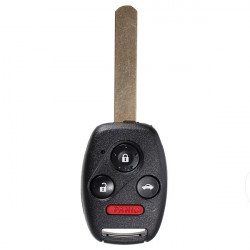 Fjernbetjening Ignition Key Nøgleløse Uncut Blade for Honda Accord
