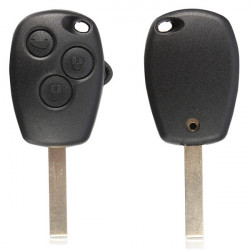 Remote Key 3 Button Fob Blank Blade For Renault Modus Kangoo Master
