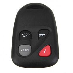 Fjärrnyckelskal Lock Shell Hölje Clicker Repair Keyless för Mazda