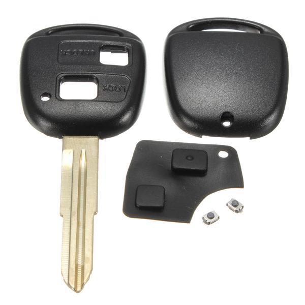 Fjärrnyckel Shell Rubber Pad Växlar Blad Repair Kit för Toyota Yaris Bildelar