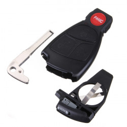 Remote Keyless Smart Key Fob Case Shell With Battery Holder For Benz