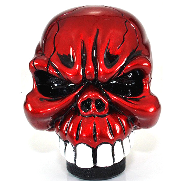 Universal Car Chrome Skull Gear Stick Shift Knob Lever Auto Parts