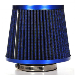 Universal Carbon Finish Bil Luftfilter Mesh Cone 76mm