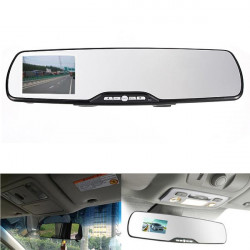 "1080P HD 2.7"" LTPS Car Camera Rear View Mirror Dash DVR"