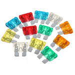 120pcs Assorted Set Kit Blade Fuse Car Auto Motorcycle Boat Car Alarm & Security