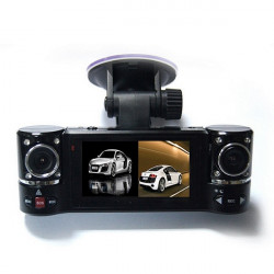 1280X480 Dual Lens Driving F600 Recorder Car Camera DVR Video